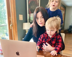 Esther Downton, owner of Eliza & Wyld, an online and wholesale all-natural CBD wellness shop, generally works in the evening, after the kids are in bed.