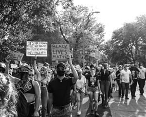 The June 3 protest in Kingston.