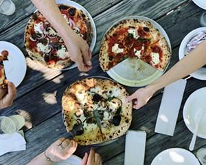 Wood-fired pizza at the Lantern Inn in Wassaic