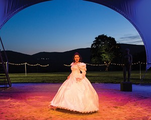 """Liz Wisan in Hudson Valley Shakespeare Festival's 2018 production of """"The Taming of the Shrew."""""""
