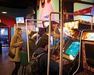 The vintage games at Beacon's Happy Valley Arcade Bar.