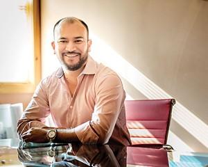Developer Luis Martinez in his New Paltz office.