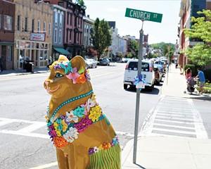 Catskill street scene.