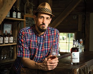 Christopher Williams, the chief distiller at Coppersea Distilling in New Paltz.