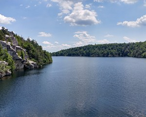 Minnewaska State Park offers miles of carriage roads as well as more intense hikes, plus a beach area when you are ready to take a break and cool off in the lake.