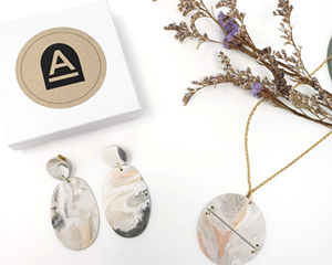 Polymer jewelry by Alcove Craft