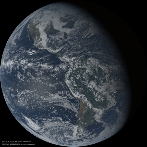 View of the Earth from GOES-16