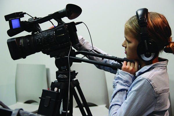 Woodstock Day School students in filmmaking classes. Several WDS student films were featured in the 2015 Woodstock Film Festival.