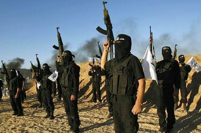 ISIL fighters in Syria.