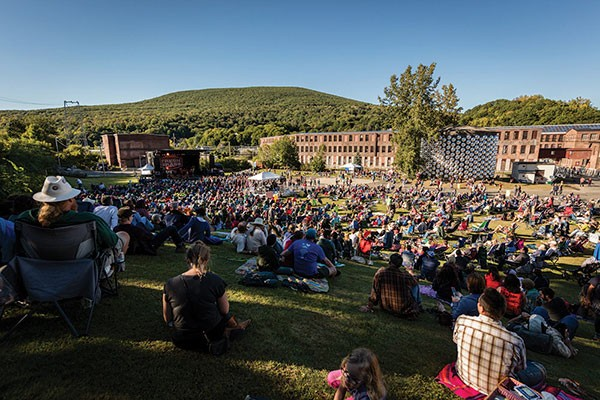 On the lawn at Fresh Grass at MASS MoCA in 2015 - DOUGLAS MASON