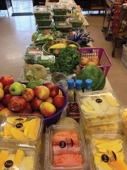 The produce table in People's Place Food Pantry is always full of surprises, from donations of food from grocery stores to organic greens from local farmers.