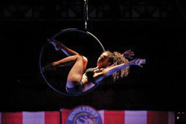 Susan Voyticky performs in the Bindlestiff Family Cirkus. - PHOTO BY CORY WEAVER