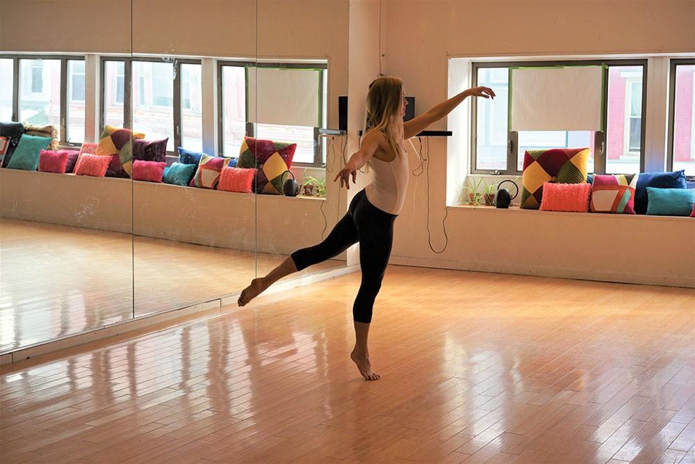 Leighann Kowalsky at the Dance Studio at BSP. - JOHN GARAY