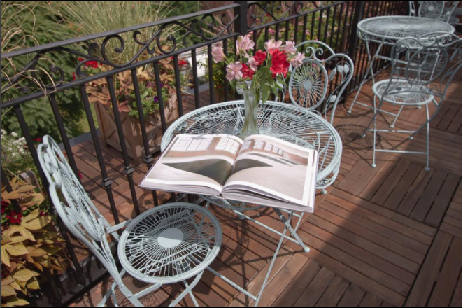 The roof deck at the Inn and Spa at Beacon.