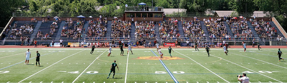 Stockade FC vs. Greater Lowell United FC in 2016.