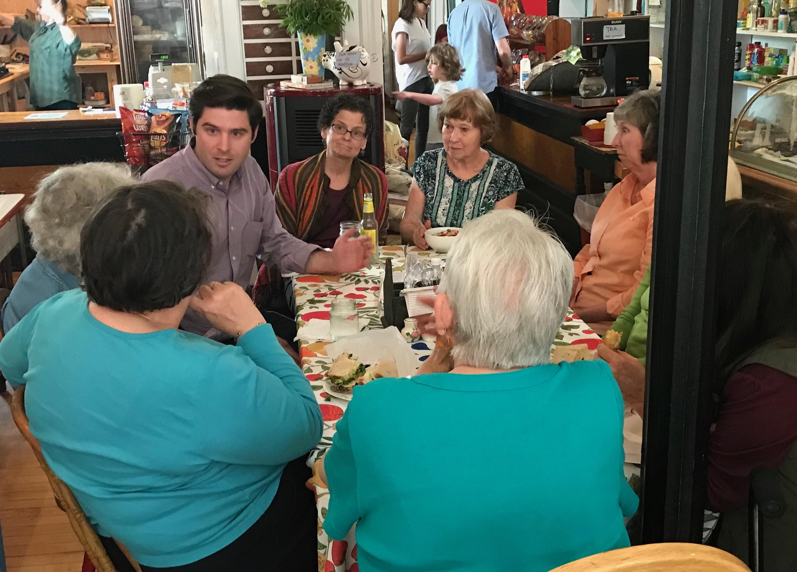 Gareth Rhodes campaigned heavily in rural communities like Bovina in Delaware County. - ANDREW SOLENDER