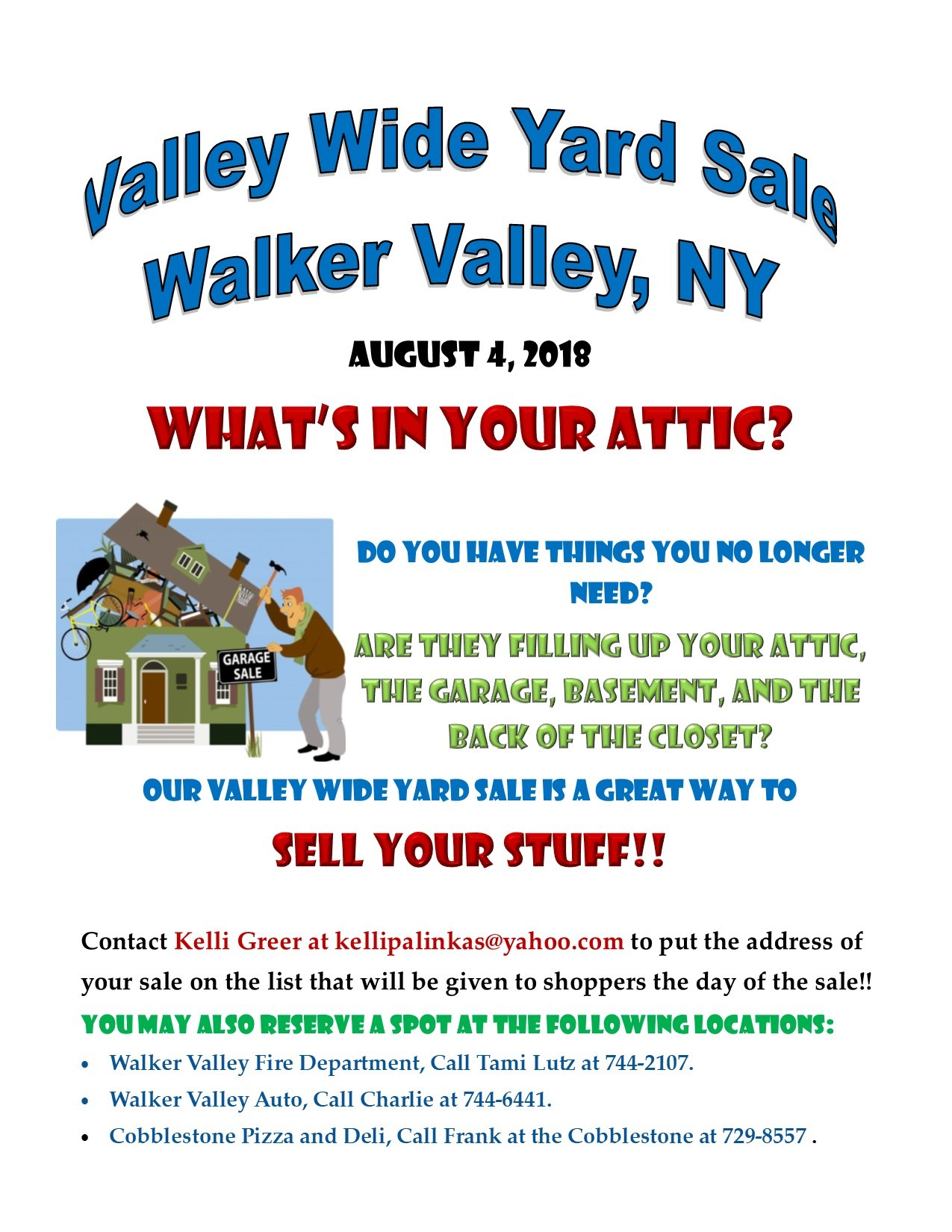 Valley Wide Yard Sale | Walker Valley Fire Co. | Outdoors u0026 Recreation | Hudson Valley; Chronogram  sc 1 st  Chronogram Magazine & Valley Wide Yard Sale | Walker Valley Fire Co. | Outdoors ...