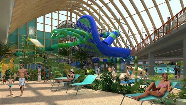 Rendering for Kartrite's indoor water park
