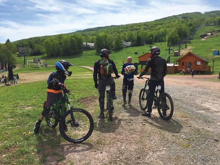 Mountain biking at Windham Mountain Resort.