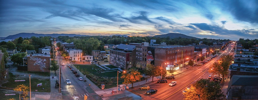 The one-time Ritz Theater and Hotel in Newburgh has been transformed into The Cornerstone, a 128-unit supportive housing residence. - PHOTO: B WOLFE PHOTOGRAPHY
