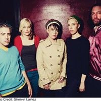 The Julie Ruin at the Spiegeltent on August 1