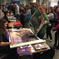 Portfolio Day for Student Artists