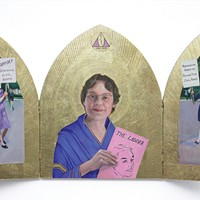 """Mortals, Saints, and Myths"" at Carrie Haddad Gallery"