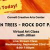 Virtual Art Class - Autumn Trees: Rock Dot Painting - Cornell Creative Arts Center @