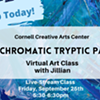 Virtual Art Class - Monochromatic Tryptic Painting - Cornell Creative Arts Center @