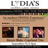 Meyer-Blake-Copeland Trio @ Lydia's Cafe