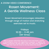 Rosen Movement: A Gentle Wellness Class @