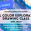 Virtual Art Class: Cool Color Exploration (Drawing Class) @