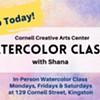 $90 - Landscape watercolor class with Shana (3 class series) @ Cornell Creative Arts Center