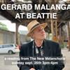 Gerard Malanga poetry reading outdoors at Beattie @ Beattie-Powers Place