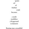 Poem: Ristretto