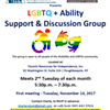 LGBTQ+Ability Discussion Group @ Taconic Resources