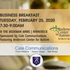 Rhinebeck Chamber Breakfast at the Beek Hosted by Cale Communications and Anderson Center for Autism @ Beekman Arms