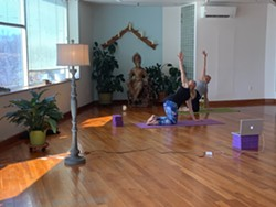 Online Yoga Classes for all levels, register online to receive an email for private link to class - Uploaded by The Living Seed