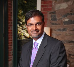 Dr. Manoj Abraham, Pres., Dutchess County Medical Society and Event Moderator - Uploaded by midhudson