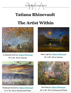 Tatiana Rhinevault: The Artist Within - Uploaded by Wendy Winston