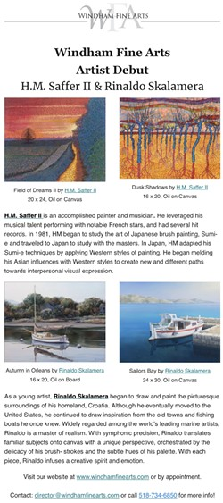 New Artists Debut at Windham Fine Arts - Uploaded by Windham Fine Arts