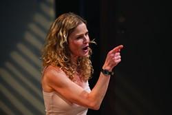 Kyra Sedgwick performing as part of the 2014 Powerhouse Theater season.