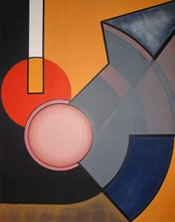 """Nil Yalter, """"Circular Tention,"""" 1967. Acrylic on canvas, 150 x 125 cm © Nil Yalter - Uploaded by GBard"""