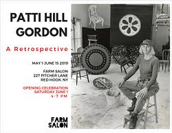 Patti Hill Gordon in her studio, undated - Uploaded by docgor