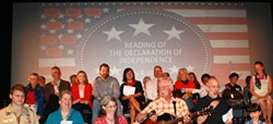 The Rosendale Theatre invites one and all to a reading of the Declaration of Independence. - Uploaded by Rosendale Theatre