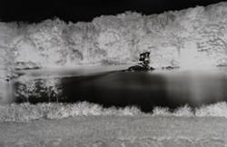 Shi Guorui, Catskill Creek, May 21 2019, unique camera obscura gelatin silver print, 69 x 45 in. - Uploaded by EAaron