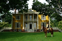 General George Washington with his trusty steed at Boscobel - Uploaded by Boscobel