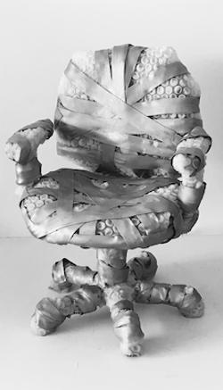 "Jeanne Silverthorne, Wrapped Task Chair, 2016, 37 x 26 x 26"" - Uploaded by joann.brody"