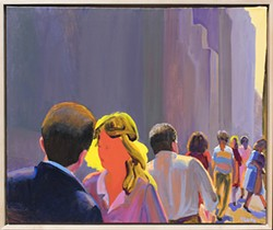 Midtown Summer Light I (1991) by William Clutz, oil on canvas, 25 x 30 inches - Uploaded by Carrie Haddad Gallery