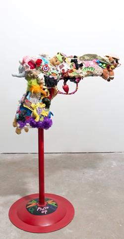 Handgun sculpture by Suprina - Uploaded by smurph